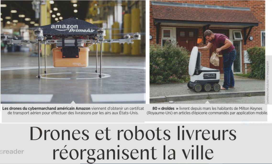 1 drones et robots livreurs