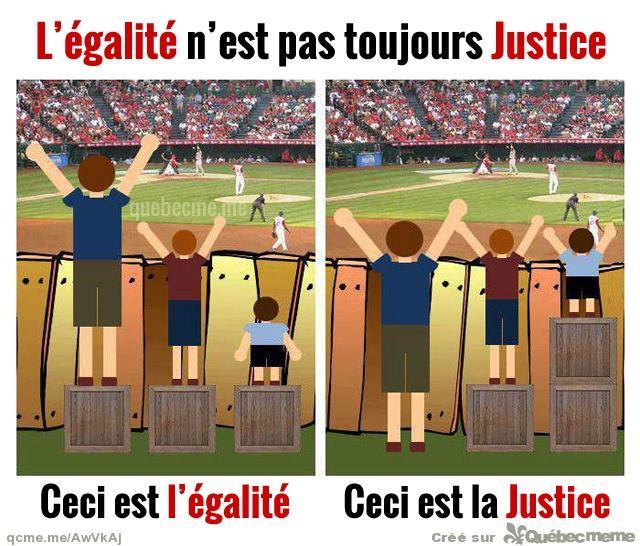 4 l egalite n est pas la justice